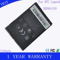 1300 mah recargable del teléfono celular de la batería para bb96100 a7272 htc