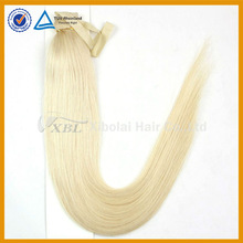 Easy to install great quality can be permed blond hair drawstring ponytail