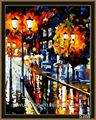 strada di alta qualità scena fai da te digitale foto di pittura a olio astratta