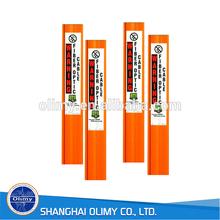 Olimy custom orange fiberglass marker post FRP marker post