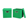 storage Collapsible cube Folding box bins with lid