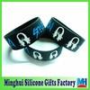factory wholesale steve aoki engraved color filled silicone bracelet