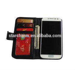 money case for samsung galaxy s4, fashion leather cover case for Samsung Galaxy S4