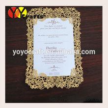 customized special wedding program/menu cards