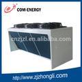 Equipos de refrigeración, condensador de aire con vertical u horizontal de aire soplaba