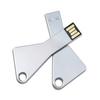Metal sliver key USB flash drive USB stick 8gb USB pen flash Disk cheap bulk wholesale