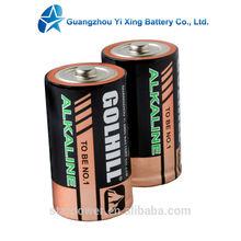 Super Alkaline Battery LR20 AM1 size D for Flashlight, radio