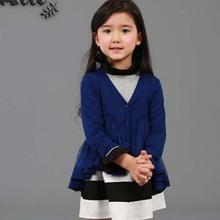 Tar5005 Autumn latest leisure girls new design coat fashion children's wear