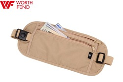 Beige Long Travel Waist Bag Money Belt Bag Wholesale