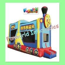 2012 latest outdoor children inflatable amusement park trains for sale (com-565)