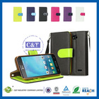 C&T Mobile phone accessory leather card holder flip case cover pouch for lg l90