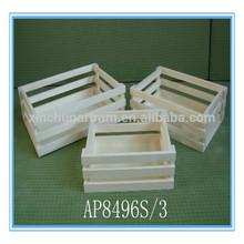 Natural wood crate wholesale