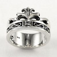 stainless steel king crown ring