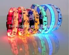 fashion custom logo pet dog collar led light led collar dog pet