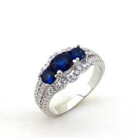 New Fashion Mix Stone Silver Jewelry Imitation Gemstone Ring