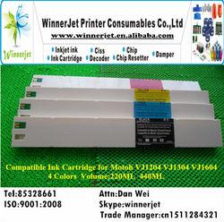 4 colors printer Compatible Ink Cartridge for Mutoh VJ1604 wide format printer