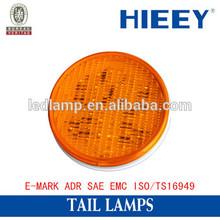 E-MARK Universal LED round tail brake light for trailers stop lamp indicator lamp