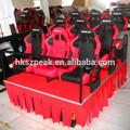 2014 novo produto! Electronic parque de diversões equipamento jogos 6d 6d cinema teatro 6d filmes 6d assento de corrida de carro simulador