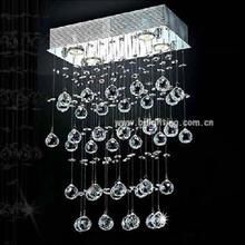 Modern fancy crystal hanging GU10 light and lighting