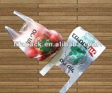 Printed HDPE T-shit shopping bag