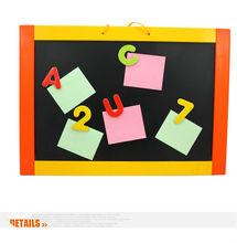 Wooden Educational kids fridge magnetic white board toys