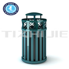 High Quality fashion Style Cast Iron Outdoor Trash Bin/Hot Sale Outdoor Dust Bin for Park/Outdoor Metal Dustbin for Backyards