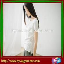 100%cotton 2014 summer top fashion women t-shirts plain