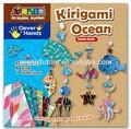hacer decorativas de papel origami con flores kirigami