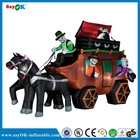 Halloween two horses inflatable carriage for sale