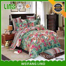 Popular ribbon embroidery bedding set/embroider bedspreads/bedding set home textile