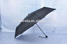 Rain gear 3 folding rain umbrella with full steel frame