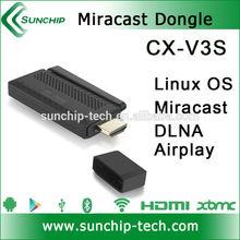 Sunchip CX-V3S wifi Wireless miracast/DLNA/Airplay wifi display