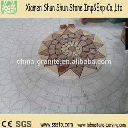 Sunflower Granite Mosaic Pattern with Round Shape
