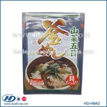 custom printed high temperture plastic bags/food retort pouch