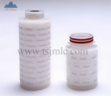Length 125mm small Series Filter Cartridge pleated membrane in liquid or gas service