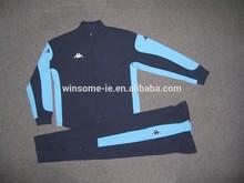 Hommes 100% polyester zippée football veste et pantalon de survêtement
