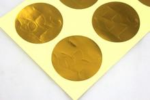 2014 newest gold stamp adhesive sticker