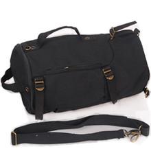 Mens Vintage Canvas Backpack Travel Bags Cylinder Duffel Bag