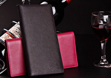 Real Cowhide Leather Wallets Unisex Travel Purses Top Layer Cowhide Leather Wallets