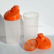 2014 latest design protein shaker bottles/500ml BPA free Protein Shaker\/ Plastic shake cup (SB-612)