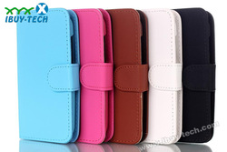 stylish book style durable leather cross pattern case for htc desire 210