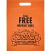 new design printed pumpkin Frosted orange die cut halloween plastic bag