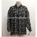 mais recente projeto impresso mulheres blusas elegantes em chiffon