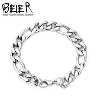 Wholesale 21cm Cheap Fashion Men's Bracelet Cool popular Titanium Steel Chain Bracelet OYS-SL005