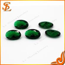 China wholesale oval shape green glass stone