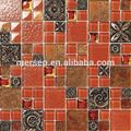 rojo de cristal del azulejo del mosaico de arte de la decoración de materiales para discoteca mk0511