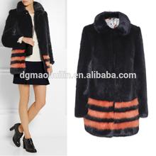 New design strips single hook clasp fur woman