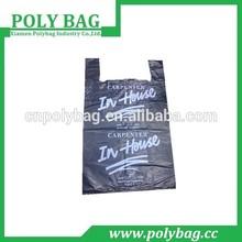 HDPE and LDPE printed wholesale t shirt bag