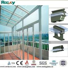 ROCKY on one level aluminium garden sun room