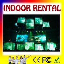 Aluminium cabinet Pixel pitch 6mm indoor rental AVI MOV WMV FLV video display screen